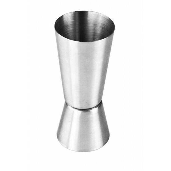 Dobbelt jigger børstet rustfrit stål (3 / 6cl)