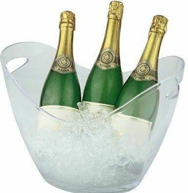 Champagnebowle, Klar H: 25,5 Cm.