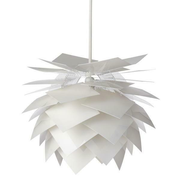 Billede af Dyberg Lar, PineApple lampe Pendel Medium hvid