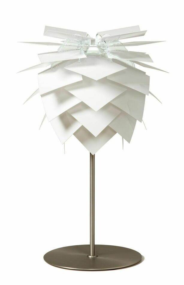 Pineapple Bordlampe På Fod - Small Hvid