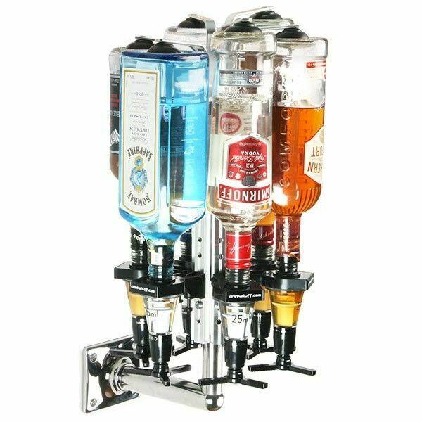 Image of   Roterende Flaskeholder Til 6 Bordmonteret 70cl / 1 Liter