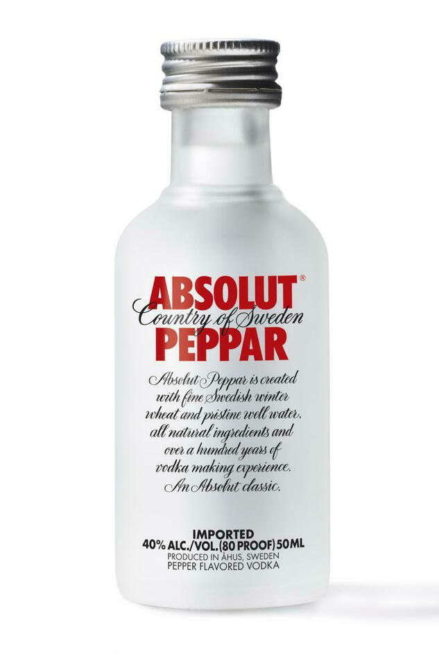 Image of   Absolut Vodka Peppar Fl 50