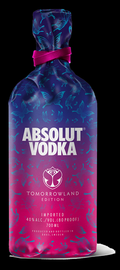 """Image of   Absolut Vodka Special Edition """"Tomorrowd"""" 70cl"""