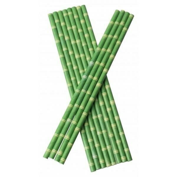 Image of   Sugerør 6x210mm (*Uden Knæk) Bambus 100 Stk