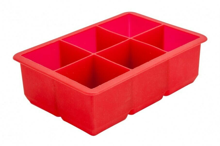 Image of   6 Sektion Red Silicone Ice Mold