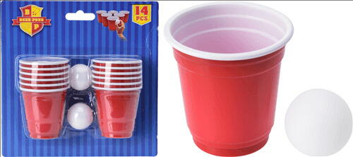 Image of   Beer Pong Game 14 Shotglas 60 Ml + 2 Bolde