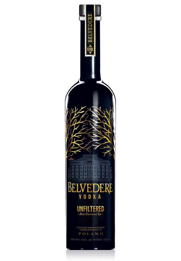 "Belvedere Vodka Unfiltered ""Rare Diamond Rye"" Fl 70"