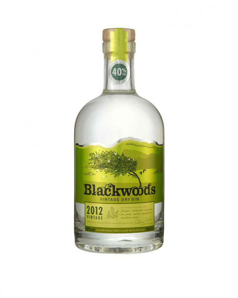 Image of   Blackwood's Vintage 2012 Dry Gin Fl 70