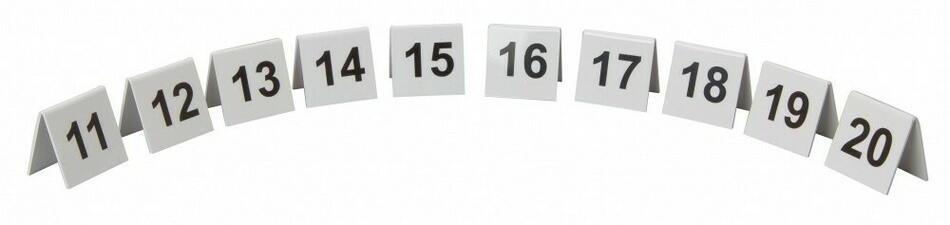 Image of   Bordnummer Plast Nr. 11-20 Sæt