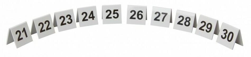Image of   Bordnummer Plast Nr. 21-30 Sæt