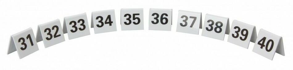 Image of   Bordnummer Plast Nr. 31-40 Sæt