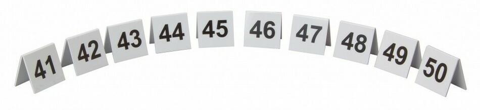 Image of   Bordnummer Plast Nr. 41-50 Sæt