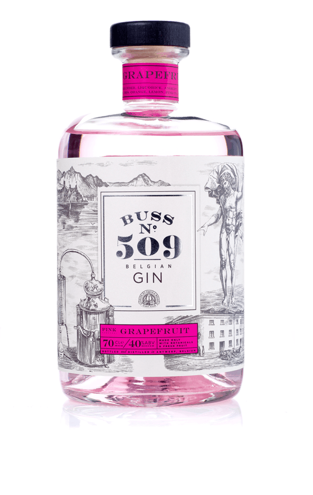 Image of   Buss No. 509 Pink Grapefruit Gin 70 cl