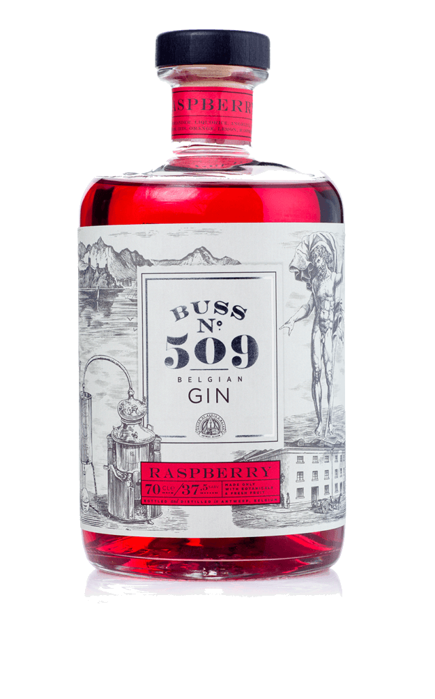 Image of   Buss No. 509 Raspberry Gin 70 cl
