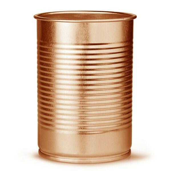Billede af DRINKSTUFF, Cocktail dåse Kobber 280 ml (4stk)