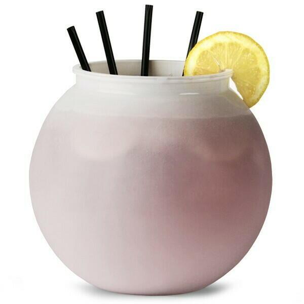 Plastik Cocktail Bowl Hvid - 3l