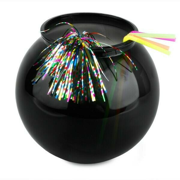 Cocktail Bowl i Sort Plastik - 3l.