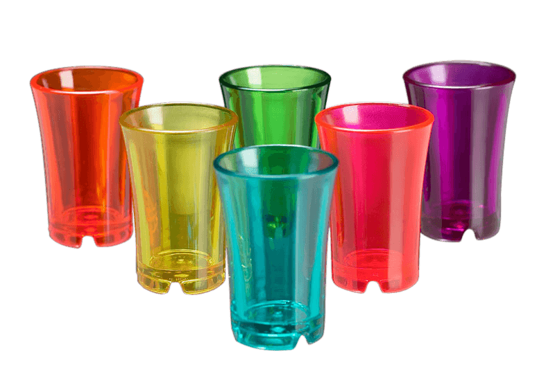 Image of   Shotglas Farvede Glas