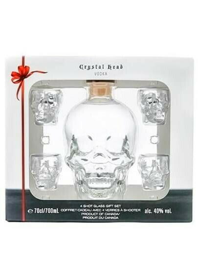 Image of   Crystal Head Vodka M/4 Glas Fl 70