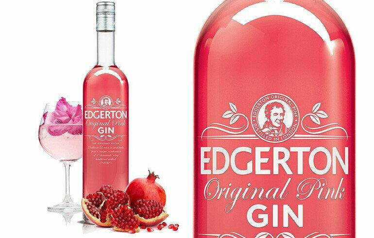 Image of   Edgerton London Pink Gin Fl 70