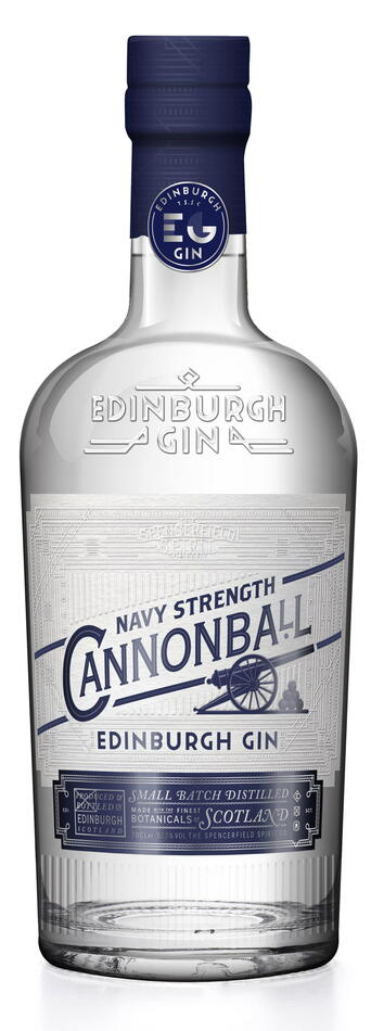 "Edinburgh ""Cannonball"" Navy Strength Gin Fl 70"