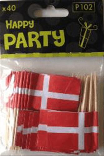 Image of   Flag På Pind Á 40 Stk.
