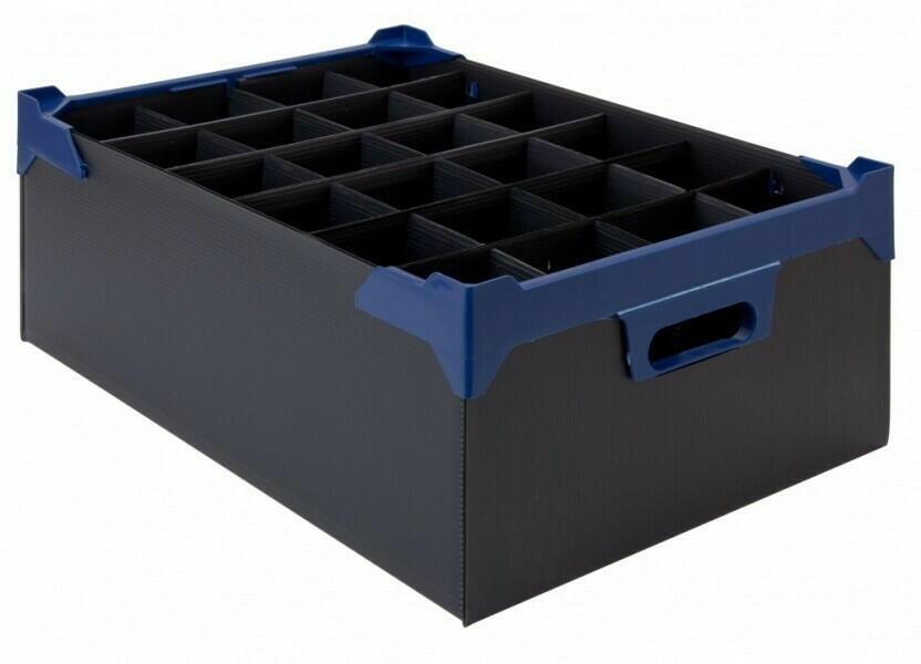 Glasopbevaringskasse - L 500mm x W 345mm x H 165mm - Pk 5