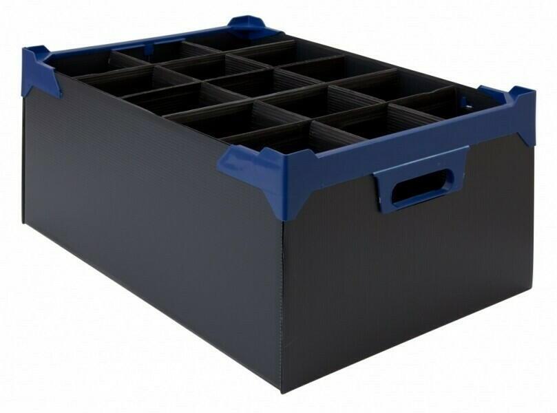 Glasopbevaringskasse - L 500mm x W 345mm x H 200mm - Pk 5