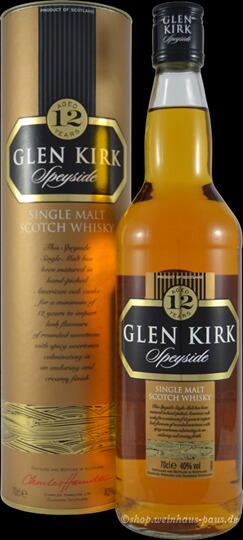 Image of   Glen Kirk 12 Yo Speyside Single Malt Fl 70