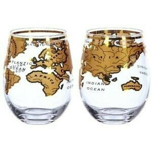 Image of   Vintage Globe Glas Gold Mixology