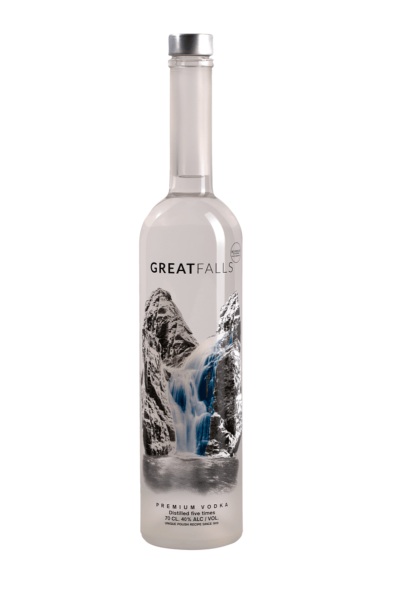 Great Falls Vodka - 0,7 Liter M/ Lys