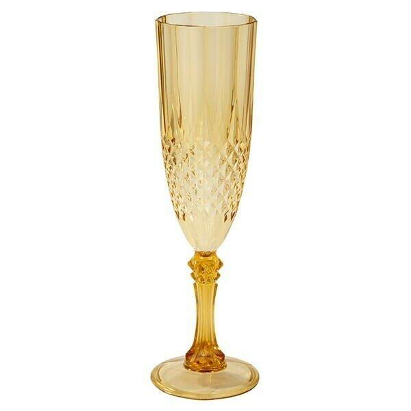 Image of   Guld Akryl Champagneglas 180ml