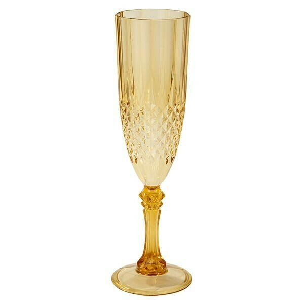 Guld Akryl Champagneglas 180ml