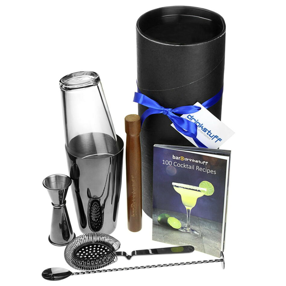 Gun Metal Boston Cocktail Shaker Set