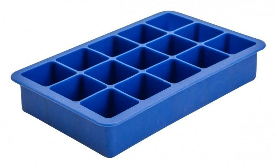 Image of   15 Sektion Blå Silicone Ice Mould