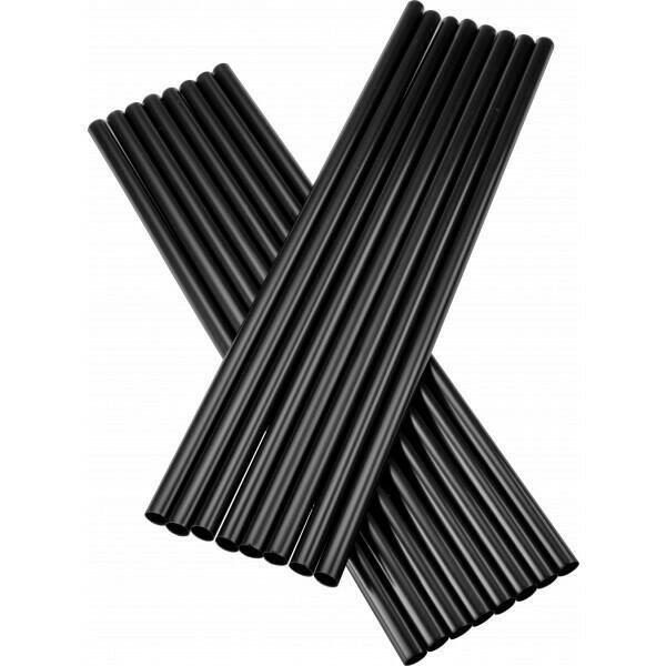Image of   sugerør 8x255mm (*uden knæk) sorte 250 stk
