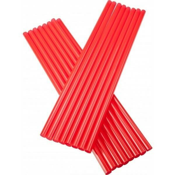 Image of   sugerør 8x255mm (*uden knæk) røde 250 stk
