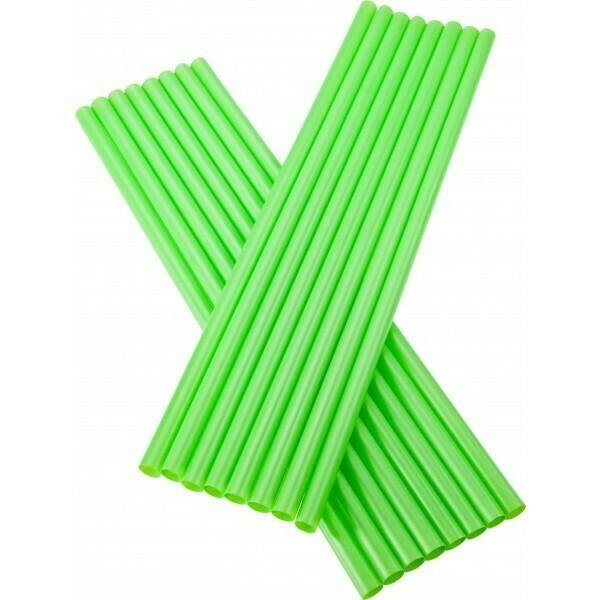 Image of   sugerør 8x255mm (*uden knæk) Grønne 250 stk