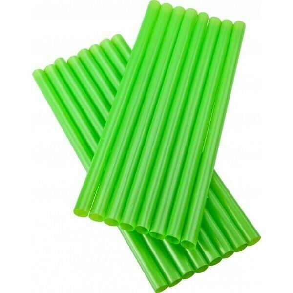 Image of   sugerør 8x160mm (*uden knæk) Grønne 250 stk