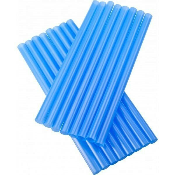 Image of   sugerør 8x160mm (*uden knæk) blå 250 stk
