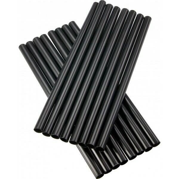 Image of   sugerør 8x160mm (*uden knæk) sorte 250 stk