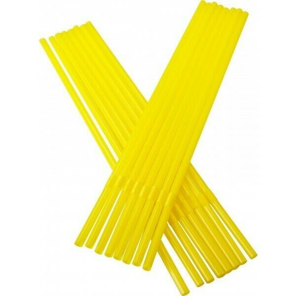 Image of   Sugerør 5x240mm (*med knæk) gule 250 stk