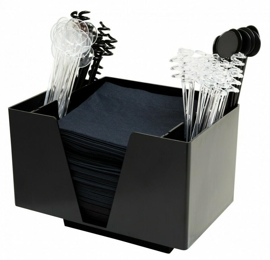 Image of   3 Part Bar Organizer Black