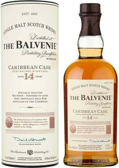 Image of   Balvenie Caribbean Cask 14 Yo Speyside Single Malt Fl 70