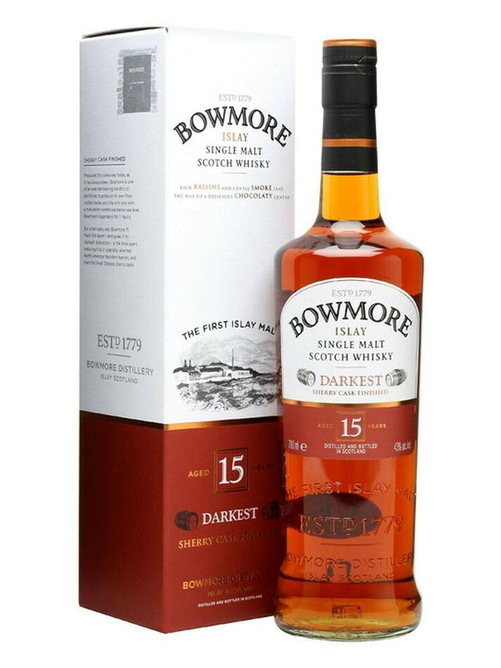 "Image of   Bowmore ""Darkest"" 15 Yo Islay Single Malt Fl 70"