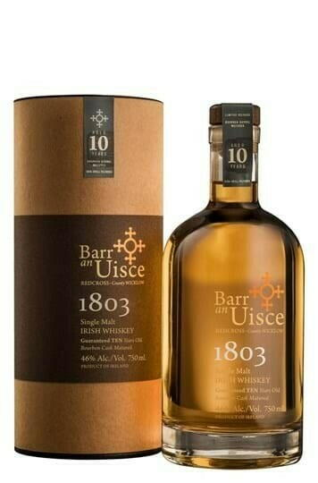 "Image of   Barr An Uisce ""1803"" 10 Yo Irish Single Malt Fl 70"