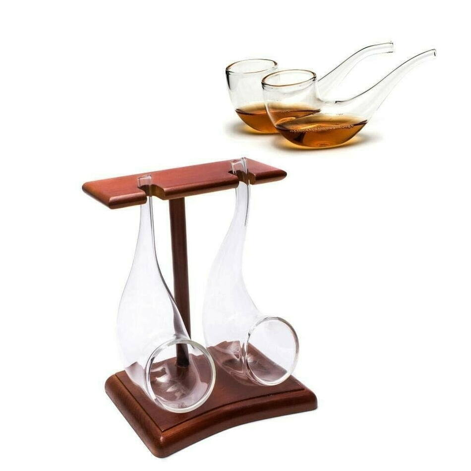 Image of   Brandy Pipes Med Stativ 2pk Vinology