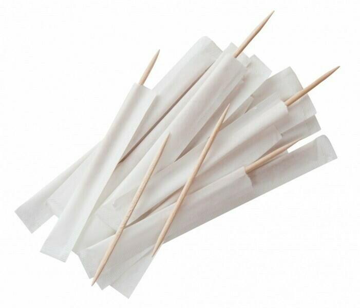 Image of   Papirindpakket træ tandstikker Pk 1000