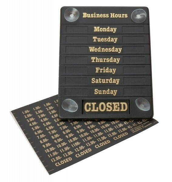 Hours Of Business Sign thumbnail