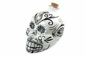 Image of   Decanter Day of the Dead Skull Hvid
